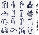 casual icons set. set of 16... | Shutterstock .eps vector #659736574