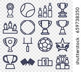 championship icons set. set of... | Shutterstock .eps vector #659738350