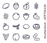 vitamin icons set. set of 16...   Shutterstock .eps vector #659746120