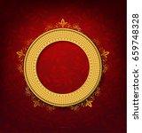 vintage gold picture frame on... | Shutterstock .eps vector #659748328