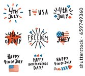 set of fourth july badges.... | Shutterstock .eps vector #659749360