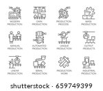 big set of icons of automatic... | Shutterstock .eps vector #659749399