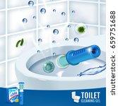 fesh fragrance toilet cleaner... | Shutterstock .eps vector #659751688