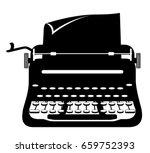 typewriter old retro vintage... | Shutterstock .eps vector #659752393