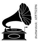 gramophone old retro vintage...   Shutterstock .eps vector #659752396