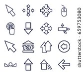 cursor icons set. set of 16... | Shutterstock .eps vector #659753080
