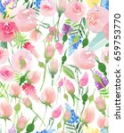 tender delicate cute elegant...   Shutterstock . vector #659753770