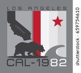 california bear typography  tee ...   Shutterstock .eps vector #659754610