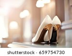 beautiful shoes for the bride... | Shutterstock . vector #659754730
