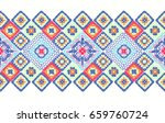 crochet  lace. a carpet of... | Shutterstock .eps vector #659760724