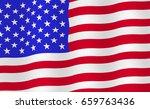 bright usa flag background.... | Shutterstock .eps vector #659763436