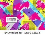 artistic funky design for print ... | Shutterstock .eps vector #659763616