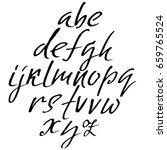 hand drawn elegant calligraphy... | Shutterstock .eps vector #659765524