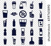 soda icons set. set of 25 soda... | Shutterstock .eps vector #659765890