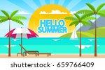 summertime flat style vector... | Shutterstock .eps vector #659766409