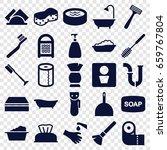hygiene icons set. set of 25...   Shutterstock .eps vector #659767804