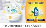 citrus fragrance toilet cleaner ... | Shutterstock .eps vector #659773384