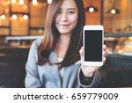 mockup image of an asian... | Shutterstock . vector #659779009
