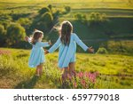 freedom  little girls playing... | Shutterstock . vector #659779018