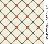 seamless grid pattern in retro... | Shutterstock .eps vector #659782474