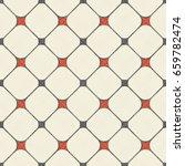 seamless grid pattern in retro... | Shutterstock .eps vector #659782474