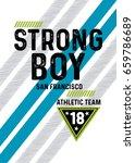 san francisco strong boy... | Shutterstock .eps vector #659786689