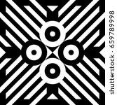 illusive tile with black white... | Shutterstock .eps vector #659789998