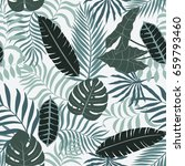 tropical background with palm... | Shutterstock .eps vector #659793460