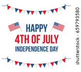 4th of july  american... | Shutterstock .eps vector #659793580