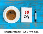 july 10th. day 10 of month ... | Shutterstock . vector #659795536