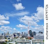 cityscape and beautiful sky... | Shutterstock . vector #659797726