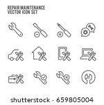 repair maintenance vector icon... | Shutterstock .eps vector #659805004