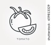 line icon tomato | Shutterstock .eps vector #659813329