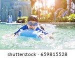 boy swimming pool | Shutterstock . vector #659815528