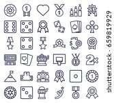 win icons set. set of 36 win... | Shutterstock .eps vector #659819929