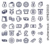 currency icons set. set of 36... | Shutterstock .eps vector #659820010