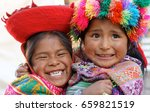 young inca sisters playing in... | Shutterstock . vector #659821519