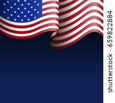 happy american independence day ... | Shutterstock .eps vector #659822884