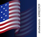 happy american independence day ... | Shutterstock .eps vector #659822929