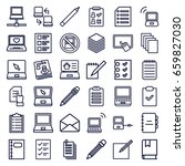 notebook icons set. set of 36... | Shutterstock .eps vector #659827030