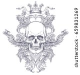 gothic coat of arms with skull. ... | Shutterstock .eps vector #659831269