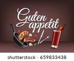 enjoy your meal   in german... | Shutterstock .eps vector #659833438
