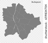 high quality map of budapest is ... | Shutterstock .eps vector #659834704