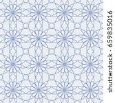 ornamental seamless pattern.... | Shutterstock .eps vector #659835016
