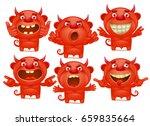 red devil cartoon characters in ... | Shutterstock .eps vector #659835664