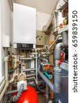 household boiler room with gas...