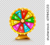colorful fortune wheel.... | Shutterstock .eps vector #659842153