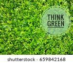 think green logo over natural... | Shutterstock . vector #659842168