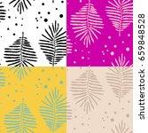 vector pattern of ferns  | Shutterstock .eps vector #659848528