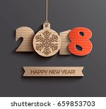 modern creative happy new year... | Shutterstock .eps vector #659853703